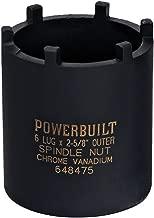 Powerbuilt 648475 Spindle Nut Socket, Six Outer