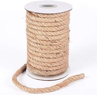 HOMYHOME Cuerda cáñamo 10 MM Natural Rollo de Cordel Yute para Cord Craft Industrial Embalaje artesanía decoración confección jardinería hogar 15 M