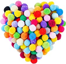 900 Pieces 1 Inch Pom Poms Balls in 30 Colors for Home and School DIY Art Crafts Decorations.