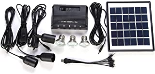 4W Solar Powered Panel 3 LED Light Lamp USB 5V Cell Mobile Phone Charger Home System Kit Garden Pathway Stair Camping Fish...