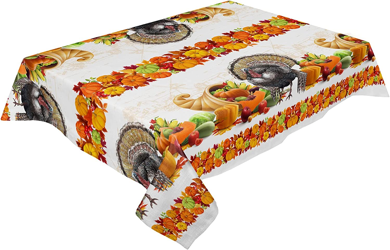 Thanksgiving Spring new work Tablecloth Turkey Pumpkin Cotton Cloth free shipping Linen Table