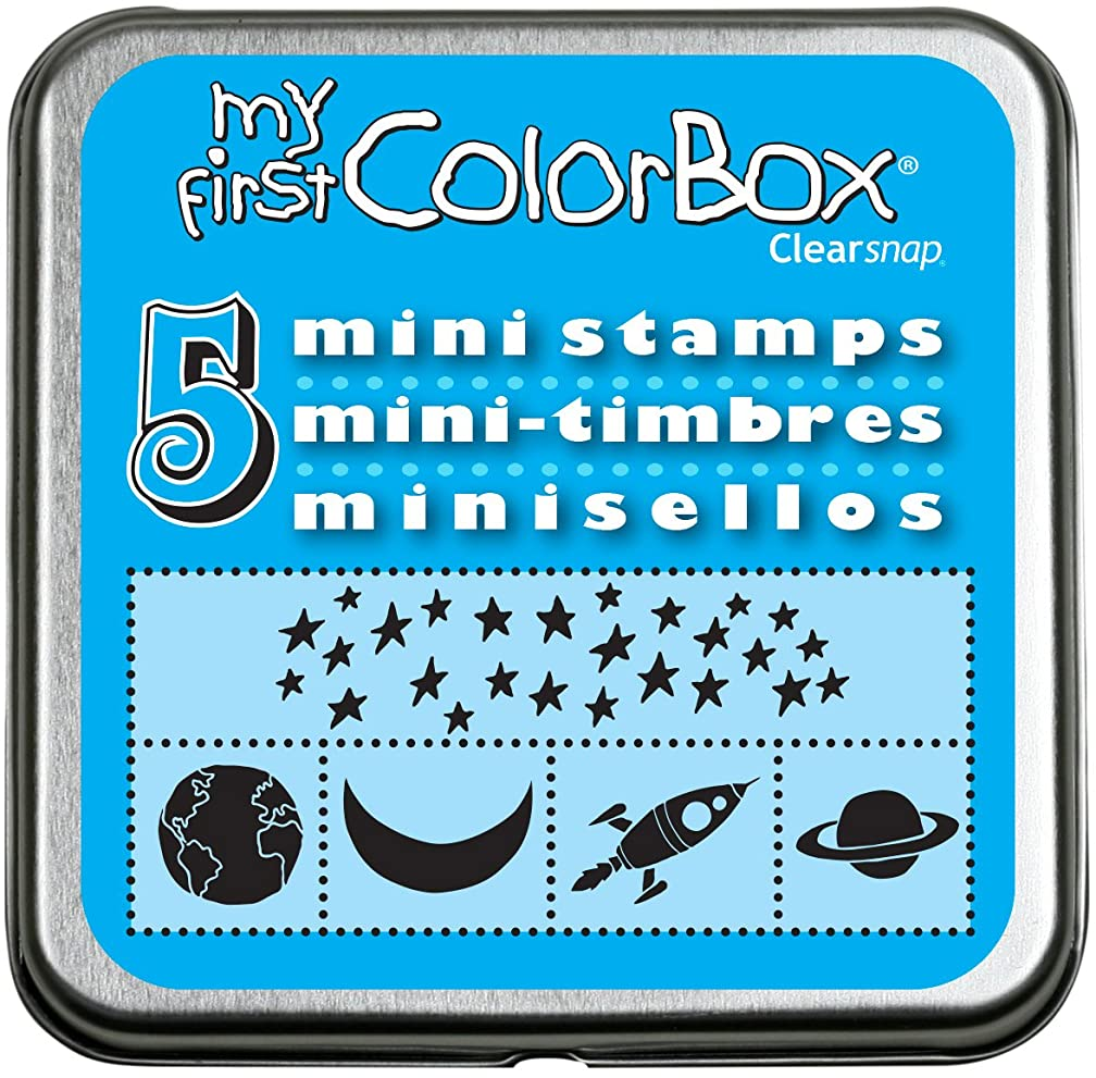CLEARSNAP My First Colorbox Mini Stamp Set, Galaxy