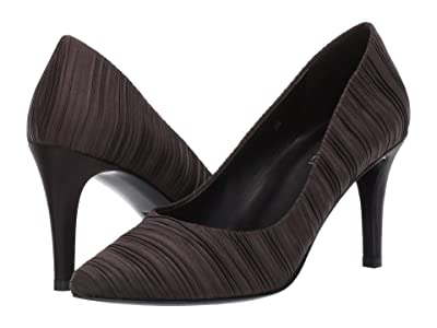 Vaneli Sabine (Black Pleated Satin) High Heels