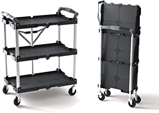 Olympia Tools 85-188 Pack-N-Roll Folding Collapsible Service Cart, Black, 50 Lb. Load Capacity...