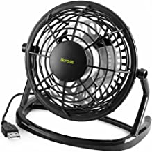 iKross USB Fan USB Mini Desktop Office Fan with 360 Rotation – Black for PC..