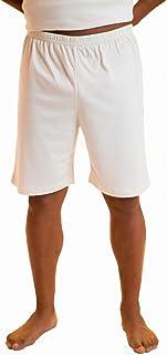 Body4Real Short de Pyjama Court en Coton biologique Pour Hommes (Grand) Off-White