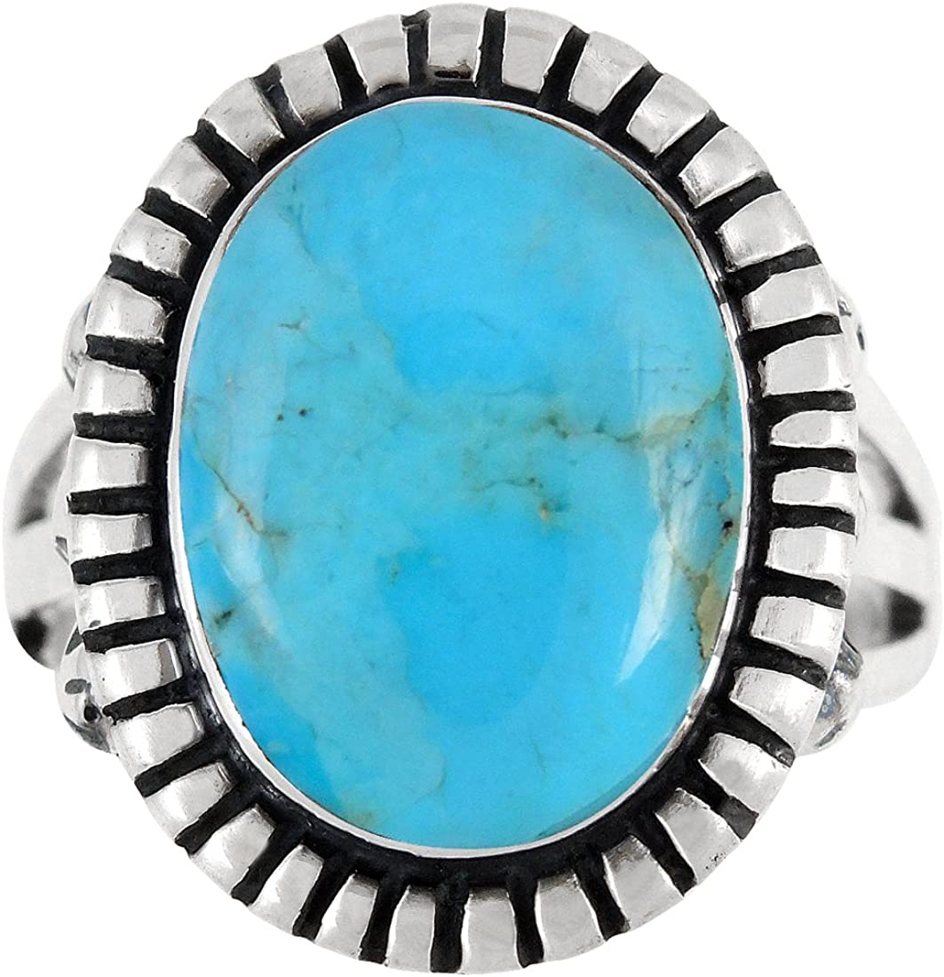 National products Sterling Silver outlet Gemstone Ring with SELECT Genuine col Turquoise