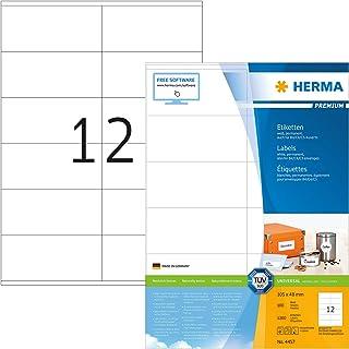 HERMA 4457 Universal Etiketten DIN A4 (105 x 48 mm, 100 Blat