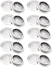 COMOK 20Pcs Air Vents 53mm/2inch Circular Soffit Vent Stainless Steel Round Vent Mesh Hole Louver for Kitchen, Bathroom, Cabinet, Wardrobe and Shoe Cabinet
