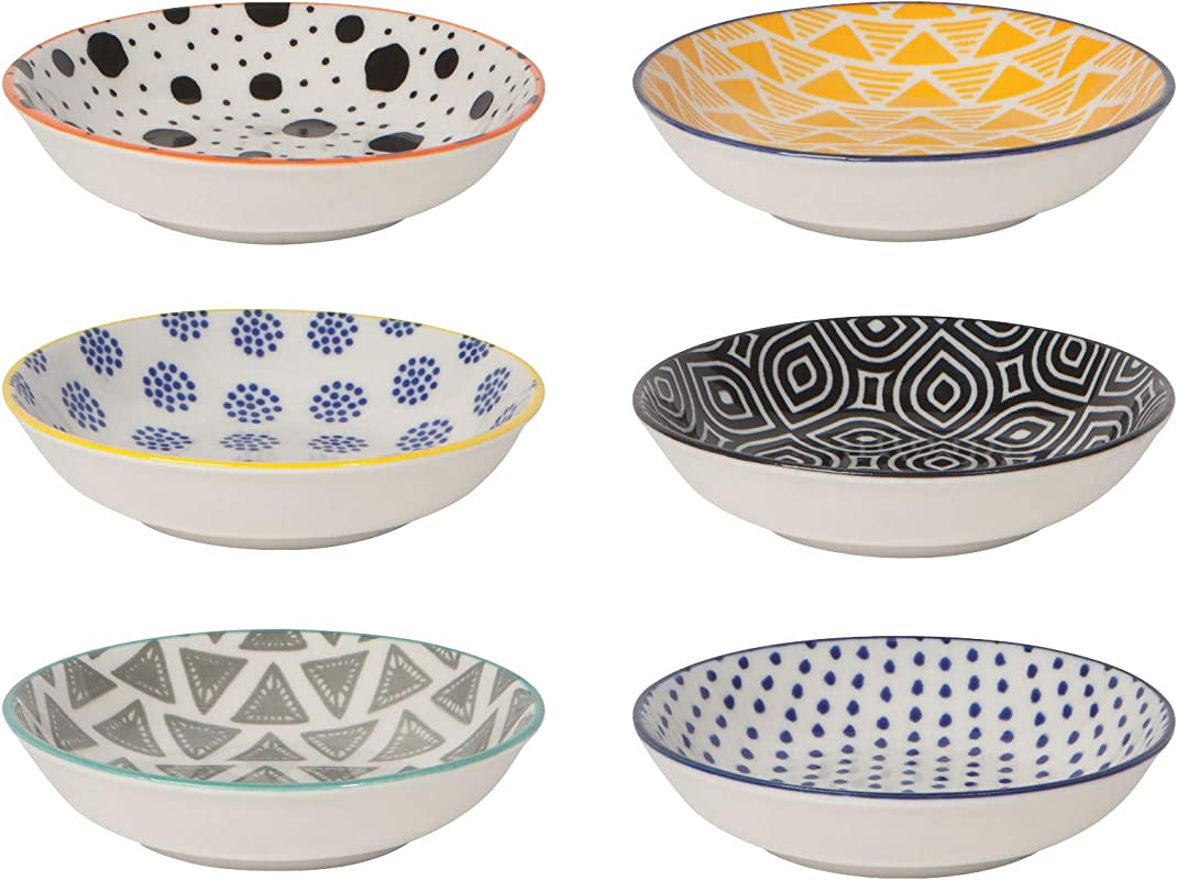 Now Designs L46005aa Set 6 Bits Dots Pinch Bowl Multi