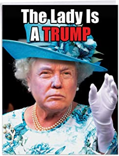 Big Funny Birthday Card - 'Queen Trump' Featuring President Donald Trump Dressed as a Woman - XL Hilarious Happy Birthday Greetings Card With Envelope 8.5 x 11 Inch J4172BDG