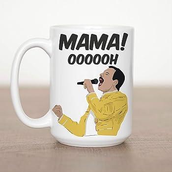 Mensaje de mam/á Personalizado en un Freddy N\A Taza de Freddie Mercury para Regalo del d/ía de la Madre