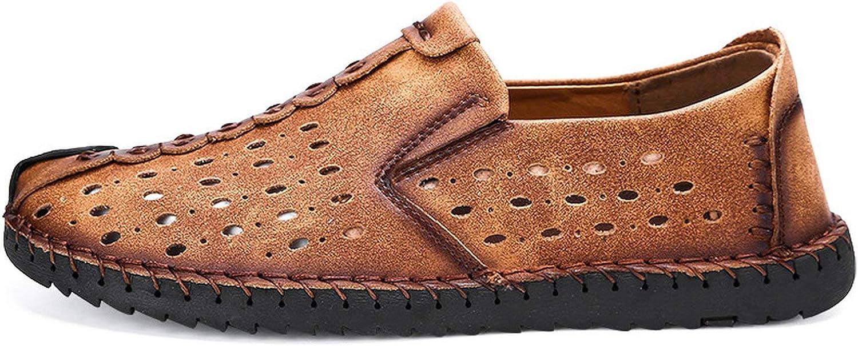 ALWAYS ME Vancat Summer Casual shoes Loafers Men shoes Split Leather shoes Men Flats Moccasins shoes