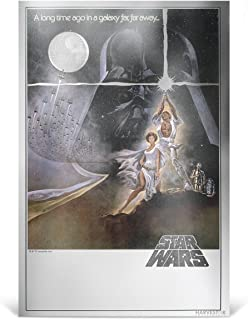 2018 NU Star Wars: A New Hope - 35g Pure Silver Premium Foil Poster - $2 Legal Tender Silver Foil - With all Original Packaging $2 Brilliant Uncirculated