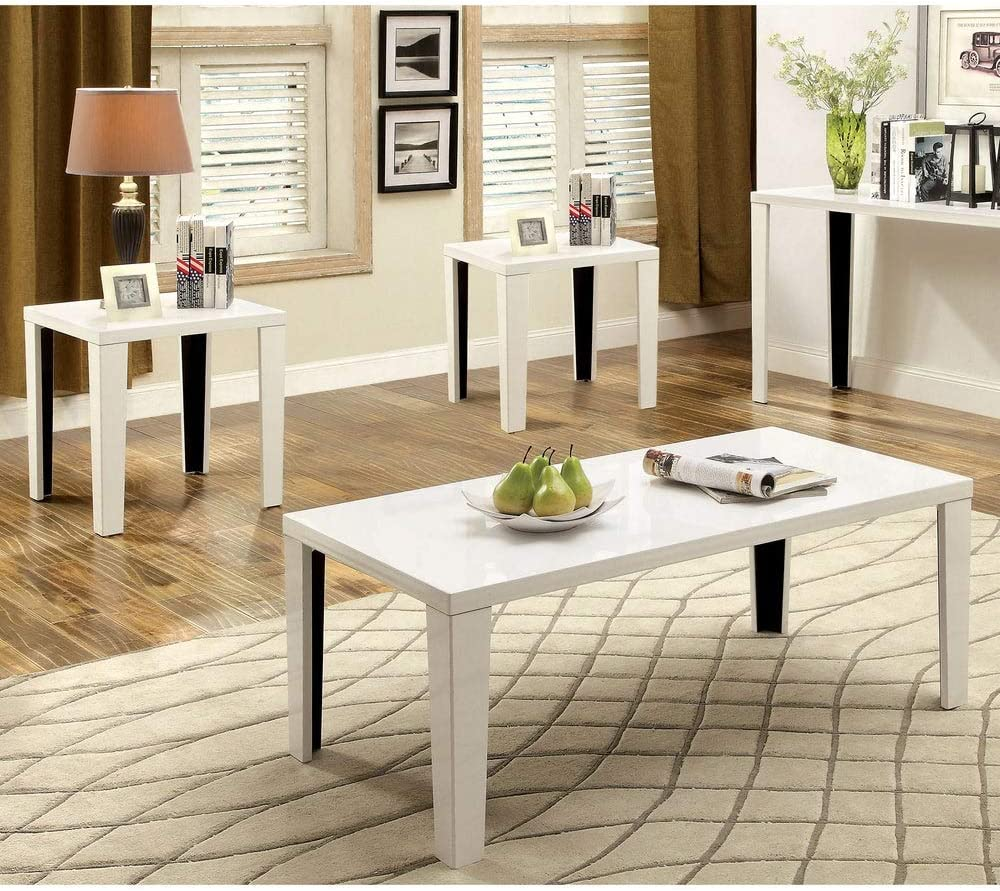 Furniture of America Lesk Challenge the lowest price Modern Glossy 48-inch Accent 3-Piece T Sale price