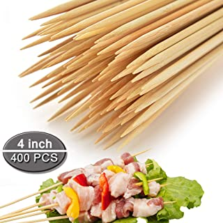 COOKEE Bamboo Skewers Premium Natural BBQ Skewers - Shish Kabob Grill Appetizer Fruit Corn Chocolate Fountain Cocktail More Food - 4
