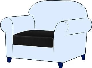 subrtex Stretch Cushion Cover Leather Seat Cushion Cover Couch Cushion Slipcover Sofa Cushion Furniture Protector Sofa Sli...