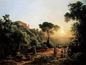 Landscape Near Tivoli with Vintager Scenes by Karoly Marko The Elder - 20