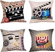 Steven.Smith Movie Theater Cinema Personalized Cotton Linen Square Burlap Decorative..
