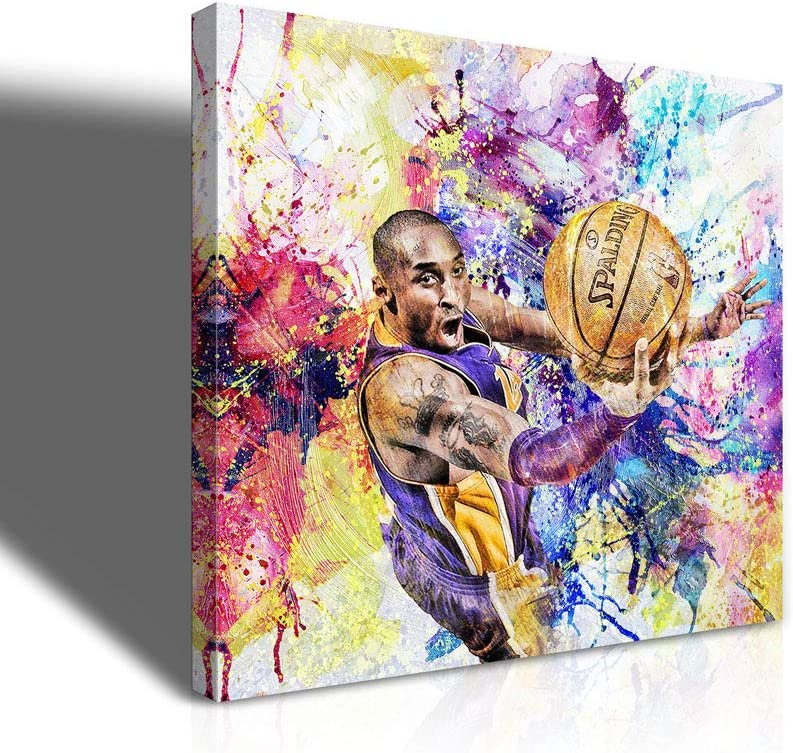 Kobe Super intense SALE Bryant Wall Art Poster Basketball Portra Star Manufacturer direct delivery Famous Player