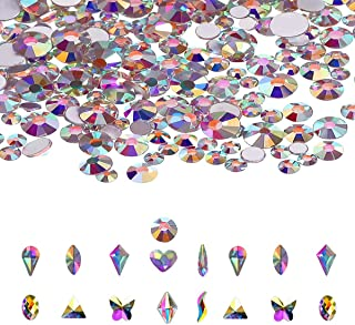 Sohapy Crystal AB Nail Art Rhinestones Set for face Nails stickers Decoration Makeup Clothes Shoes Bags Crafts Face Jewelr...