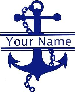 anchor initial car decal
