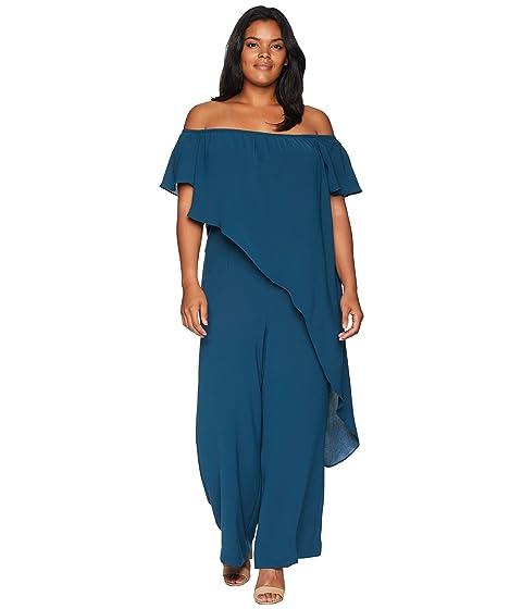 9f2ec2e85ecd Adrianna Papell Plus Size Off The Shoulder Draped Jumpsuit ...