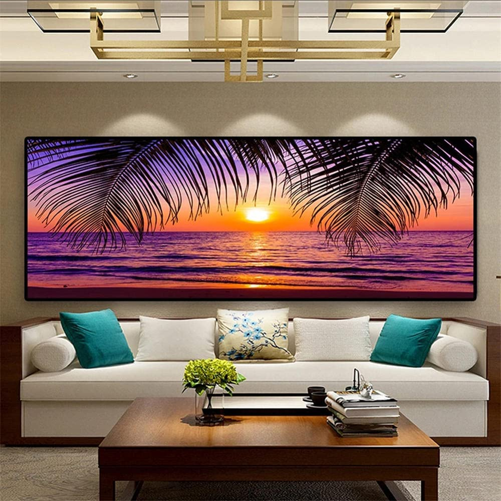 DIY 5D Diamond Painting by Number Free shipping Sunsets Full Kits Beach Phoenix Mall Drill