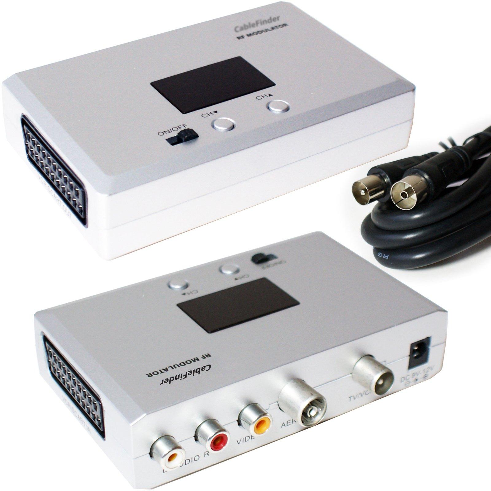 Euroconector a Modulador RF para antena de TV Conversor: Amazon.es ...