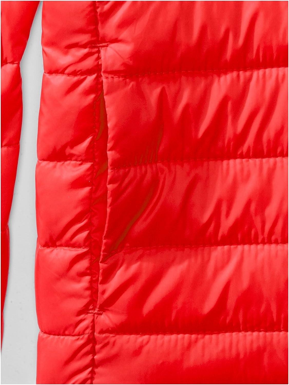 Essentials Boys Light-Weight Water-Resistant Packable Hooded Puffer Jackets Coats
