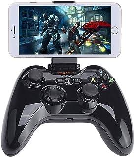 Bluetooth Gamepad Controller, iOS MFi Wireless Gaming Joystick met Klemhouder Compatibel met Apple iPhone Xs, XR X, 8 Plu...