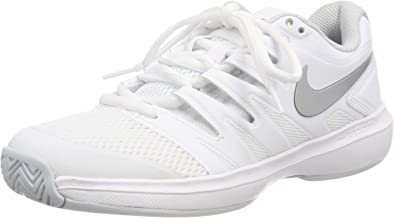 Nike Women's Air Zoom Prestige Tennis Shoes (6 B US, White/Metallic Silver/Pure Platinum)