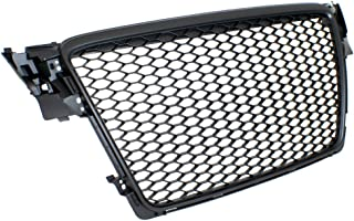PROMOTORING For 09-12 Audi A4/S4 (B8) RS4 Style Main Upper Euro Mesh Grille - Matte Black