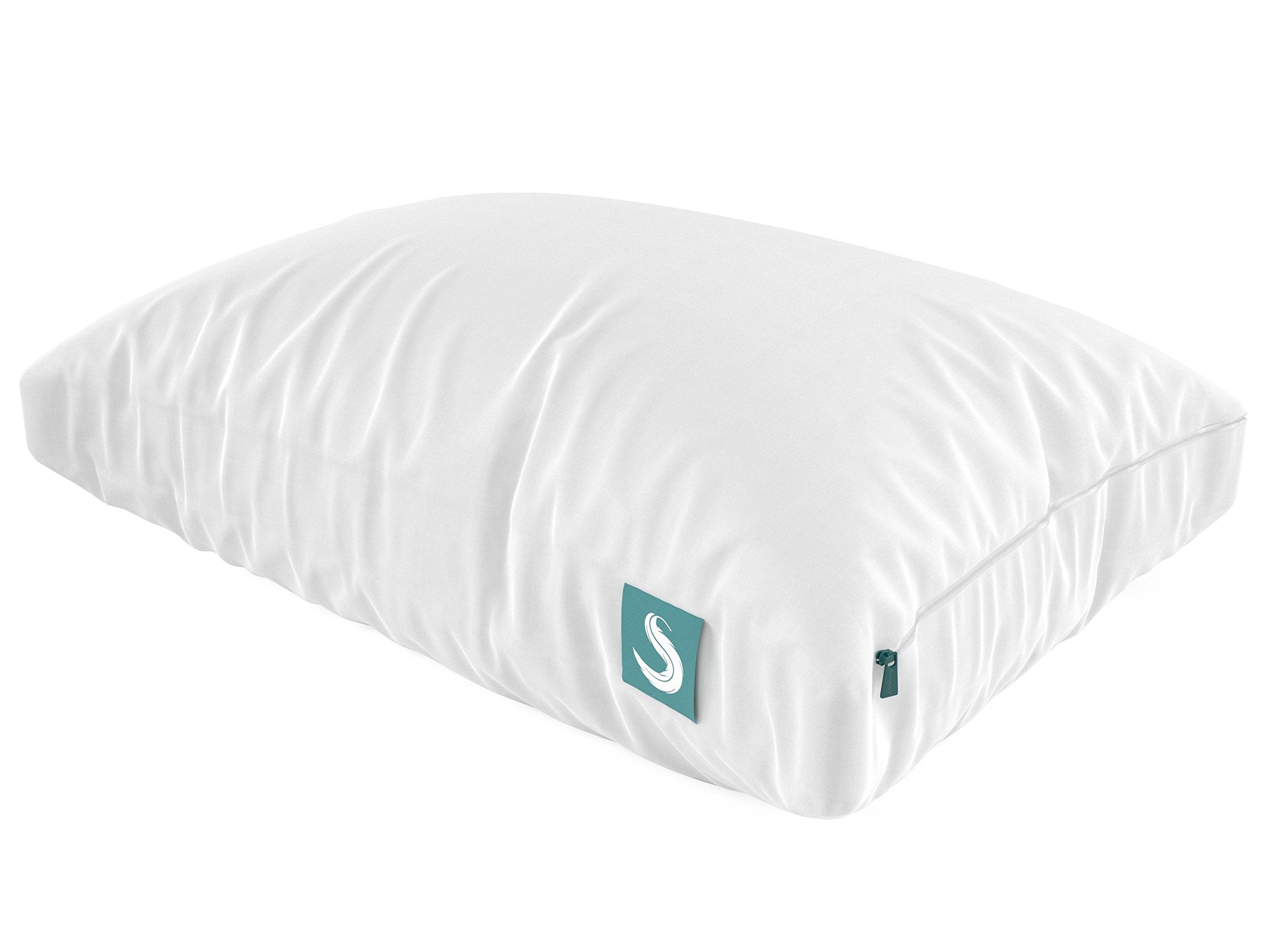Sleepgram Pillow Adjustable Hypoallergenic Microfiber