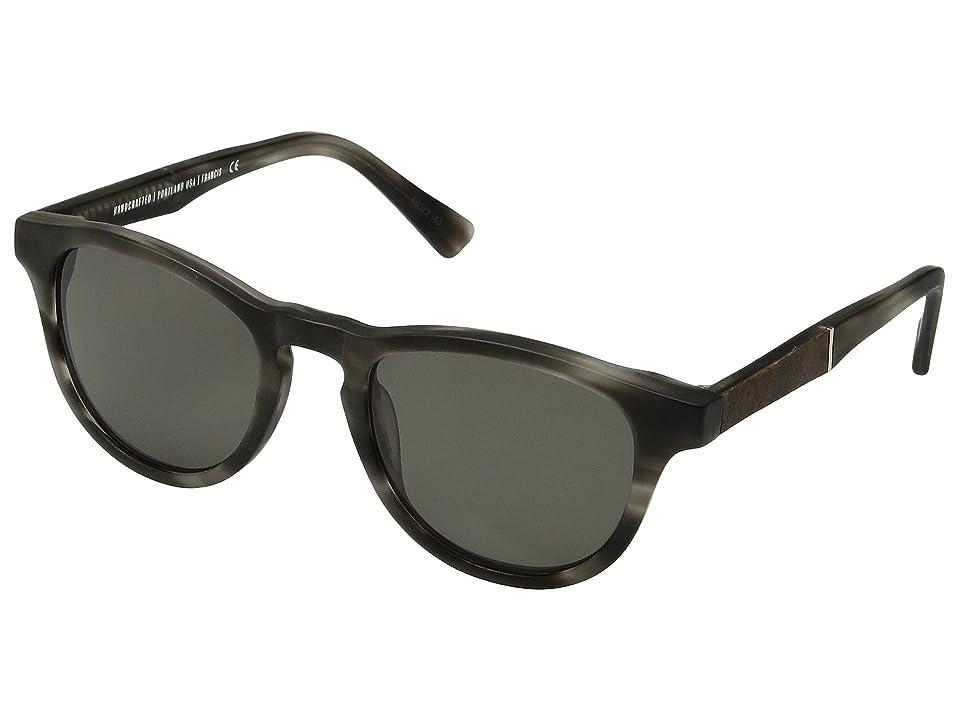 Shwood Francis (Matte Grey/Elm Burl/G15) Sport Sunglasses