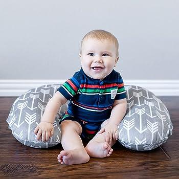 Minky Nursing Pillow Cover   Arrow Pattern Slipcover   Best for Breastfeeding Moms   Soft Fabric Fits Snug On Infant ...