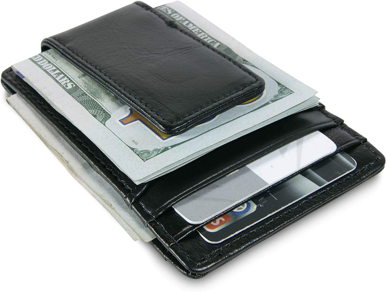 CoreLife Mens Wallet with Money Clip Slim Front Pocket RFID Blocking Card Holder