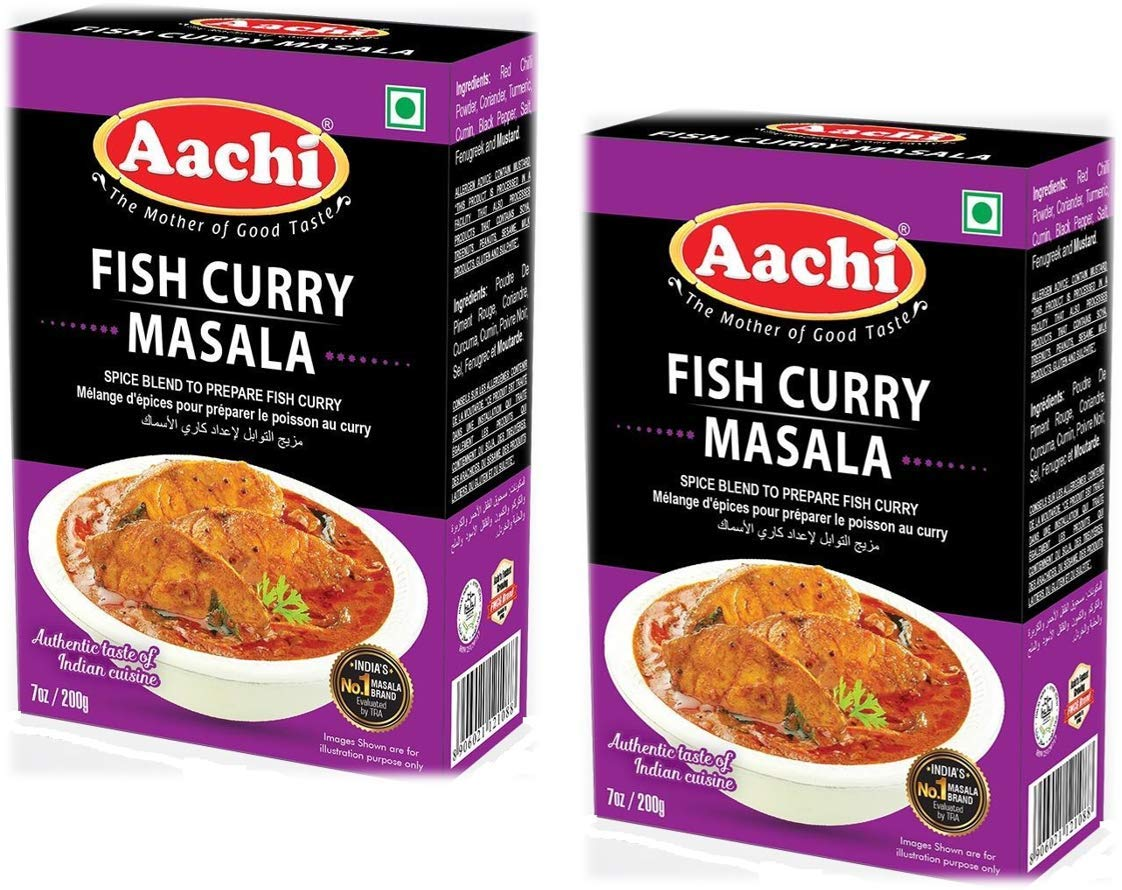 Ranking TOP13 AACHI Fish Curry Masala 200 gms - 2 PACK TWIN Luxury goods -PACK OF