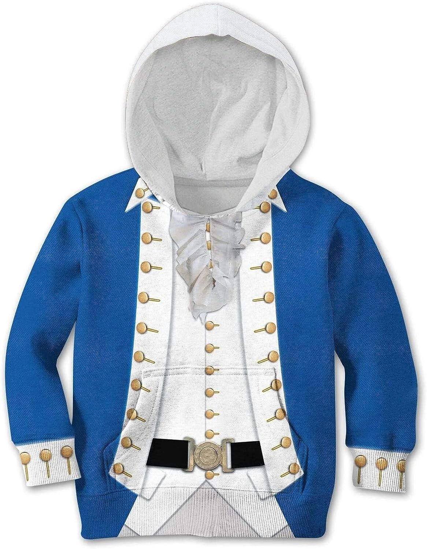 SPCOSPLAY Fashion Hoodie The Historical Figure George Washington Cosplay 3D Printed Sweatshirts for Kids
