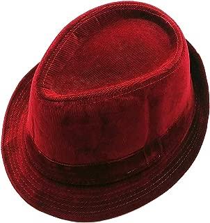 Mens Velvet Fedora Hat Selections - Stylish Smooth Trilby Panama Hats