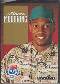 1992-93 Skybox Draft Alonzo Mourning Hornets Rookie Basketball Card #DP2