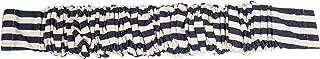 Creative Co-Op Black & Cream Striped Fabric Chandelier Cord Cover