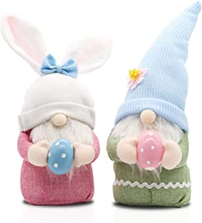 Easter 2PCS Easter Decorations,Handmade Gnome Faceless Plush Doll,Bunny Gnome Home Household Decoration,Easter Plush Gnome...