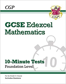 Grade 9-1 GCSE Maths Edexcel 10-Minute Tests - Foundation (includes Answers)