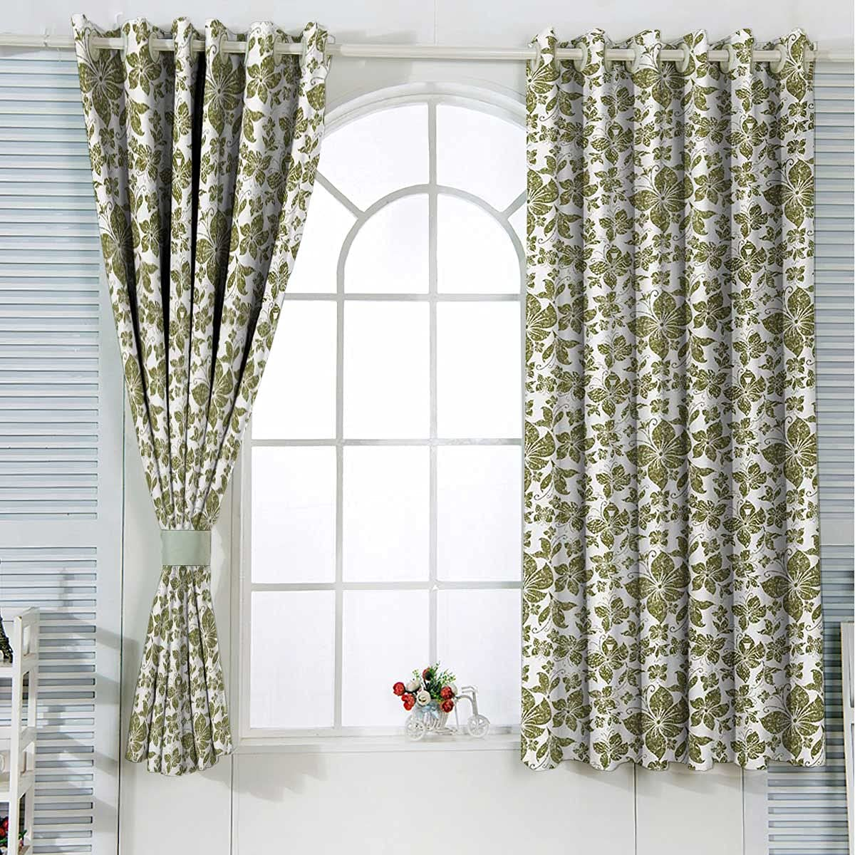 Grunge Grommet Curtains Yellow Cafe Green White Kitchen Large discharge sale Bombing free shipping