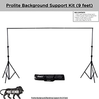 Prolite Background Support Kit (9ft x 9ft) for Photography & Videography with Carry Bag