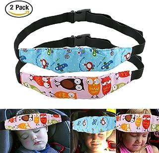 Uraqt Bebés Soporte de la Cabeza para Cinturón de Seguridad de Coche, Varios Colores, Paquete de 2