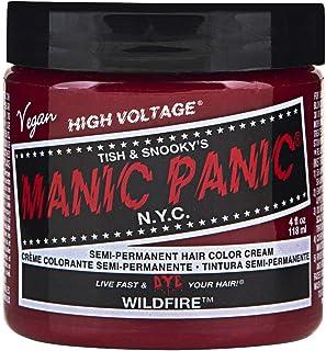 Manic Panic Semi-Permament Haircolor Widfire 4 Ounce Jar (118ml) (6 Pack)