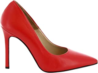 LEONARDO SHOES Women's 206NAPPARED Red Leather Pumps