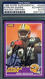 Sterling Sharpe 1989 Score Rookie Coa Autograph Hand Signed - PSA/DNA Certified - Football Slabbed Autographed Rookie Cards